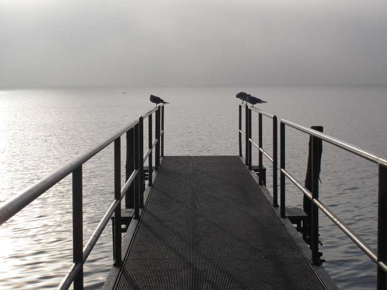 365xSempach Lac de Sempach en hiver vu du ponton à Sempach
