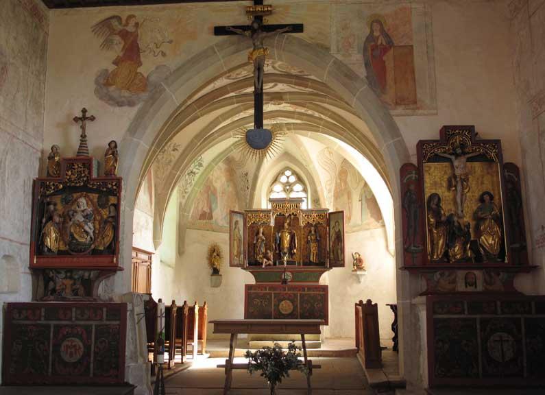 Dans la quiétude de l'église de Kirchbühl