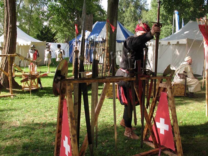 365 x Sempach Campement de soldats à la Fête du Moyen Age à Sempach
