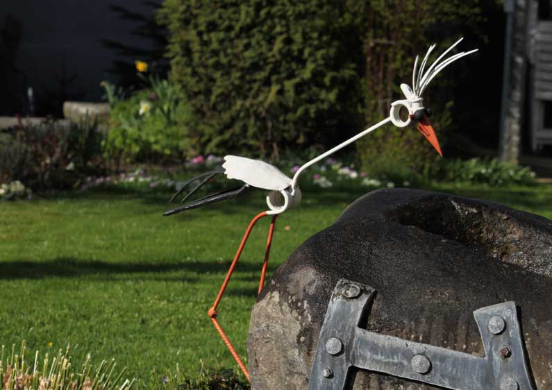 Une cigogne fidèle à Sempach